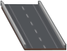 One-way highway with sound barriers.png